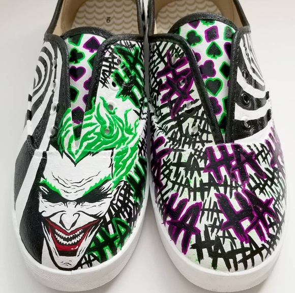 cb18a5cff1702 The Joker Custom Painted Shoes
